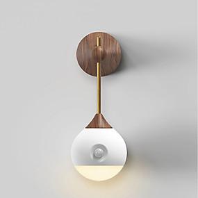 povoljno LED noćna rasvjeta-1pc Noćno svjetlo na zidu Toplo bijelo USB Infracrveni senzor / Bežično / Jednostavno za nošenje 5 V