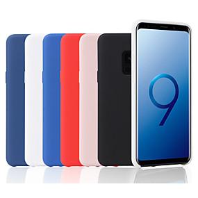 voordelige Galaxy S7 Edge Hoesjes / covers-hoesje Voor Samsung Galaxy S9 / S9 Plus / S8 Plus Mat Achterkant Effen Zacht Siliconen