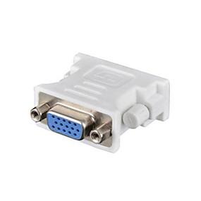 olcso Számítógépes periferiális egységek-DVI Male To VGA Female DVI 24 + 1 VGA Nő férfi 1080P Rövid (kevesebb, mint 20cm)