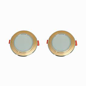 olcso Beépíthető-2pcs 5 W 360 lm 10 LED gyöngyök Könnyű beszerelni Süllyesztett kapcsolók LED mélysugárzók Meleg fehér Hideg fehér 220-240 V Otthon / iroda Nappali / ebédlő / CE