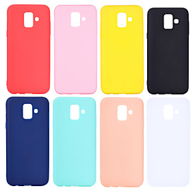 رخيصةأون Galaxy J5(2017) أغطية / كفرات-غطاء من أجل Samsung Galaxy J7 (2017) / J7 (2016) / J6 (2018) مثلج غطاء خلفي لون سادة ناعم TPU