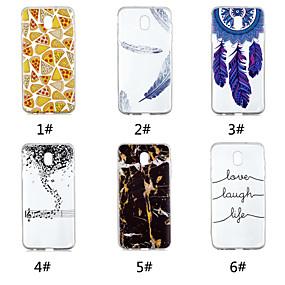 voordelige Galaxy J3 Hoesjes / covers-hoesje Voor Samsung Galaxy J7 V / J7 (2017) / J7 (2018) Patroon Achterkant Voedsel / Woord / tekst / Veren Zacht TPU