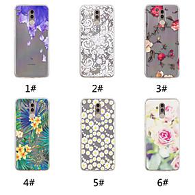 Недорогие Чехлы и кейсы для Huawei Honor-Кейс для Назначение Huawei Huawei Nova 3i / Huawei P20 / Huawei P20 Pro С узором Кейс на заднюю панель Цветы Мягкий ТПУ / P10 Plus / P10 Lite / P10
