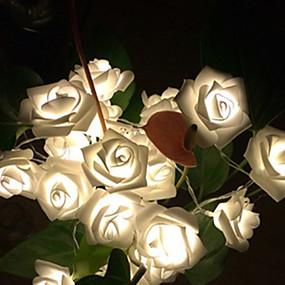 رخيصةأون أضواء شريط LED-1M أضواء سلسلة 10 المصابيح أبيض دافئ حزب / ديكور 5 V 1SET
