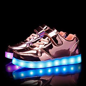 povoljno KIDS SALE-Dječaci / Djevojčice Svjetleće tenisice Lakirana koža Sneakers Mala djeca (4-7s) / Velika djeca (7 godina +) Hodanje LED Zlato / Srebro / Pink Ljeto / Jesen