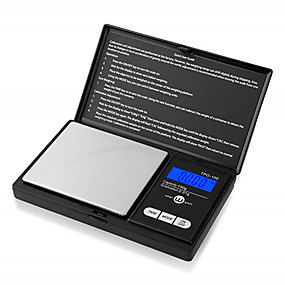 povoljno Digitalne vage-elektronski džepni mini vage visoke preciznosti 0.1g / 1kg digitalne težine grama