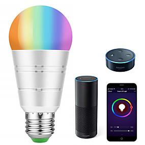 halpa LED-älylamput-älykäs led-lamppu wifi älykäs bulbsrgb valkoinen himmennettävä värillinen älypuhelimella säädettävä päivänvalo valkoinen yövalo ei tarvita napaa, joka toimii amazon echo alexa google home -palvelussa