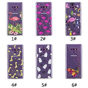 Недорогие Чехлы и кейсы для Galaxy Note 8-Кейс для Назначение SSamsung Galaxy Note 9 / Note 8 С узором Кейс на заднюю панель Бабочка / Фламинго / Мультипликация Мягкий ТПУ