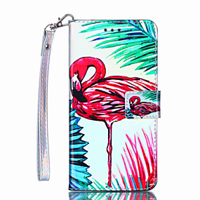 voordelige Galaxy S7 Hoesjes / covers-hoesje Voor Samsung Galaxy S9 / S9 Plus / S8 Plus Portemonnee / Kaarthouder / Schokbestendig Volledig hoesje Flamingo Hard PU-nahka