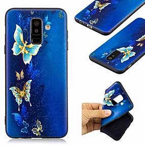 Недорогие Чехлы и кейсы для Galaxy A5(2016)-Кейс для Назначение SSamsung Galaxy A6 (2018) / A6+ (2018) / Galaxy A7(2018) С узором Кейс на заднюю панель Бабочка Мягкий ТПУ