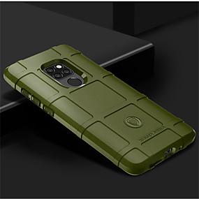 Недорогие Чехлы и кейсы для Huawei Mate-Кейс для Назначение Huawei Mate 10 / Mate 10 pro / Huawei Mate 20 lite Защита от удара Кейс на заднюю панель Однотонный Мягкий Силикон