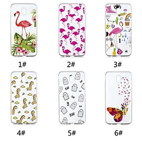 voordelige Galaxy J7(2017) Hoesjes / covers-hoesje Voor Samsung Galaxy J7 V / J7 (2017) / J7 (2018) Patroon Achterkant Tegel / Vlinder / Flamingo Zacht TPU