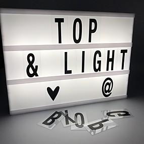 رخيصةأون مصابيح ليد مبتكرة-1PC الصمام ليلة الخفيفة أبيض كول بطاريات آ بالطاقة إبداعي <=36 V