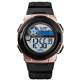 Недорогие Фирменные часы-SKMEI Муж. Спортивные часы Армейские часы электронные часы Цифровой На каждый день Будильник силиконовый Черный / Зеленый Цифровой - Розовое золото Черный Синий Один год Срок службы батареи