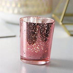 olcso Home Fragrances-minimalista stílusú / Európai stílus üveg / Üveg Gyertyatartók Újdonság / Születésnap / Kendeláberek 1db, Gyertya / gyertyatartó