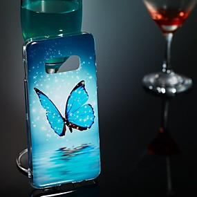 voordelige Galaxy S7 Edge Hoesjes / covers-hoesje Voor Samsung Galaxy S9 / S9 Plus / S8 Plus Glow in the dark / Patroon Achterkant Vlinder Zacht TPU
