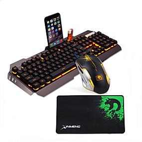 olcso Egér & Billentyűzetek-LITBest G3 USB vezetékes Egér billentyűzet Combo Színátmenet / Backlit Gaming billentyűzet Fénylő Gaming Mouse / ergonómikus egér 2400 dpi