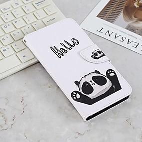 Недорогие Чехлы и кейсы для Huawei серии Y-Кейс для Назначение Huawei Y9 (2018)(Enjoy 8 Plus) / Huawei Y6 (2018) / Huawei Y6 (2017)(Nova Young) Кошелек / Бумажник для карт / со стендом Чехол Панда Твердый Кожа PU