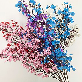 رخيصةأون أزهار اصطناعية-زهور اصطناعية 1 فرع كلاسيكي الحديث ورادت ناعمة أزهار الطاولة