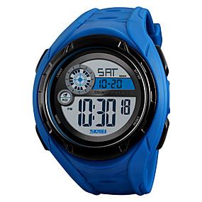 Недорогие Фирменные часы-SKMEI Муж. Спортивные часы Армейские часы электронные часы Цифровой силиконовый Черный / Синий / Зеленый 50 m Будильник Календарь Секундомер Цифровой На каждый день Мода - Черный Зеленый Синий