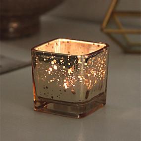 olcso Home Fragrances-Modern Kortárs / minimalista stílusú Üveg Gyertyatartók Újdonság / Születésnap / Kendeláberek 1db, Gyertya / gyertyatartó