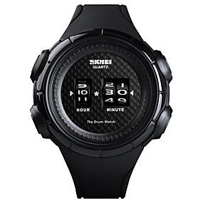 Недорогие Фирменные часы-SKMEI Муж. Спортивные часы Наручные часы электронные часы Японский Японский кварц силиконовый Черный 50 m Защита от влаги Творчество Новый дизайн Цифровой Роскошь Мода - Белый Черный / Один год