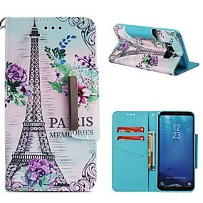 voordelige Galaxy S7 Hoesjes / covers-hoesje Voor Samsung Galaxy S9 / S9 Plus / S8 Plus Portemonnee / Kaarthouder / Schokbestendig Volledig hoesje Eiffeltoren Hard PU-nahka