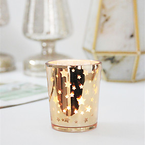 olcso Home Fragrances-Modern Kortárs / minimalista stílusú Üveg Gyertyatartók Születésnap / Kendeláberek 1db, Gyertya / gyertyatartó