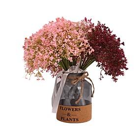 رخيصةأون أزهار اصطناعية-زهور اصطناعية 1 فرع كلاسيكي أنيق Wedding Flowers ورادت ناعمة أزهار الطاولة