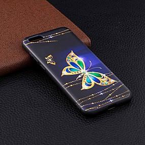 Недорогие Чехлы и кейсы для Huawei серии Y-Кейс для Назначение Huawei Huawei Y6 (2018) / Huawei Y6 (2017)(Nova Young) / Huawei Y5 (2018) С узором Кейс на заднюю панель Бабочка Мягкий ТПУ