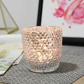 olcso Home Fragrances-Modern Kortárs / minimalista stílusú üveg / Üveg Gyertyatartók Újdonság / Születésnap / Kendeláberek 1db, Gyertya / gyertyatartó
