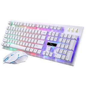 olcso Egér & Billentyűzetek-LITBest G20 USB vezetékes Egér billentyűzet Combo Színátmenet / Backlit / Cseppálló Gaming billentyűzet Fénylő Gaming Mouse / ergonómikus egér 1600 dpi