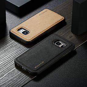 voordelige Galaxy S7 Hoesjes / covers-hoesje Voor Samsung Galaxy S7 Waterbestendig / Schokbestendig / DHZ Achterkant Effen Hard PU-nahka