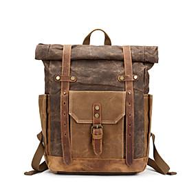 povoljno Muške torbe-Kravlja koža Patent-zatvarač Školska torba Putovanje Crn / Military Green / Kava / Muškarci