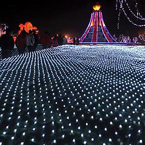olcso LEDszalagfények-6 * 4m Fényfüzérek 880 LED Meleg fehér / Hideg fehér / Több színű Vízálló / Parti / Karácsonyi esküvői dekoráció 220-240 V 1set