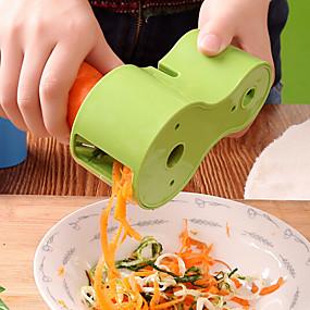 رخيصةأون أدوات & أجهزة المطبخ-تقطيع الخضار الحلزوني مزدوج مبشرة قسط كوسة صانع المعكرونة السباغيتي