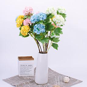 رخيصةأون أزهار اصطناعية-زهور اصطناعية 1 فرع كلاسيكي دعامات أوروبي أرطنسية الزهور الخالدة أزهار الطاولة