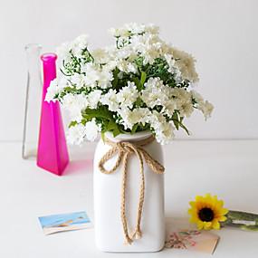 رخيصةأون أزهار اصطناعية-زهور اصطناعية 5 فرع كلاسيكي دعامات النمط الرعوي الإقحوانات الزهور الخالدة أزهار الطاولة