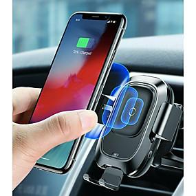 olcso -10% és még több-baseus qi autós vezeték nélküli töltő légtelenítő automata szerelő tartó iphone 8-hoz plusz xr x xs max samsung galaxy s10 s10 + s10e s9 s8 intelligens infravörös érzékelő gyors vezeték nélküli töltés