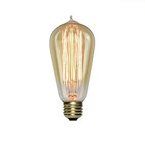 olcso Hagyományos izzó-1db 40 W E26 / E27 ST64 1800-2200 k Izzólámpa Vintage Edison izzó 220-240 V
