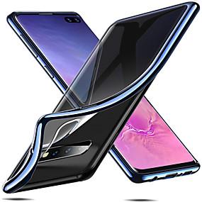 voordelige Galaxy S7 Edge Hoesjes / covers-hoesje Voor Samsung Galaxy S9 / S9 Plus / S8 Plus Beplating Achterkant Effen Zacht TPU