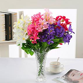 رخيصةأون أزهار اصطناعية-زهور اصطناعية 2 فرع كلاسيكي دعامات أوروبي الزهور الخالدة أزهار الطاولة