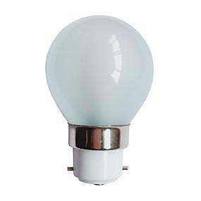 olcso EU Raktár-3 W LED gömbbúrás izzók 90-100 lm B22 G45 25 LED gyöngyök SMD 3014 Meleg fehér 220-240 V / # / RoHs