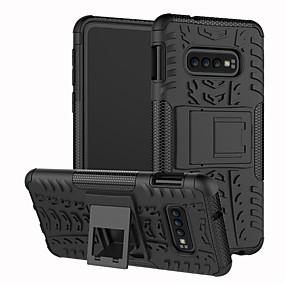 voordelige Galaxy S7 Edge Hoesjes / covers-hoesje Voor Samsung Galaxy S9 / S9 Plus / S8 Plus Schokbestendig / met standaard Achterkant Effen / Geometrisch patroon Hard TPU