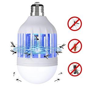 olcso LED gömbbúrás izzók-BRELONG® 1db 15 W LED gömbbúrás izzók 120 lm E26 / E27 12 LED gyöngyök SMD 2835 Rovar Mosquito Fly Killer Fehér Ibolya 220 V