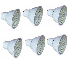 ieftine Spoturi LED-6pcs 5 W Spoturi LED 500 lm GU10 MR16 80 LED-uri de margele SMD 2835 Decorativ Alb Cald Alb Rece 220-240 V / RoHs