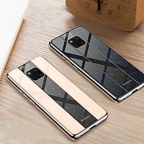 Недорогие Чехлы и кейсы для Huawei Mate-Кейс для Назначение Huawei Mate 10 / Mate 10 pro / Huawei Mate 20 pro Покрытие Кейс на заднюю панель Однотонный Твердый Закаленное стекло / Mate 9 Pro