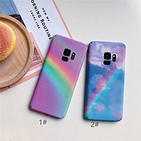 voordelige Galaxy S7 Hoesjes / covers-hoesje Voor Samsung Galaxy S9 / S9 Plus / S8 Plus Ultradun / Patroon Achterkant Kleurgradatie Hard PC