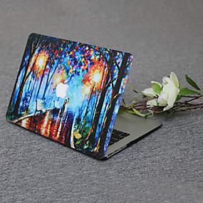 """זול מגנים לMacBook Pro 13""""-MacBook נרתיק ציור שמן PVC ל MacBook Pro 15החדש / MacBook Pro 13""""החדש / New MacBook Air 13"""" 2018"""