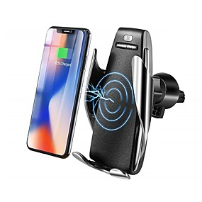olcso Autó töltők-bestsin qi vezeték nélküli autós töltő telefontartó 10w gyors töltésű gravitációs összeköttetés légtelenítő kivezetés konzol